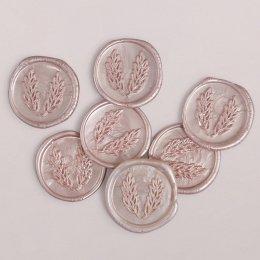 Cachet de cire rose 3cm