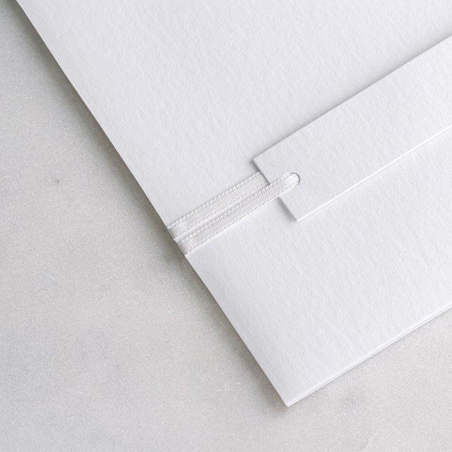 Ruban Satin blanc 90 cm
