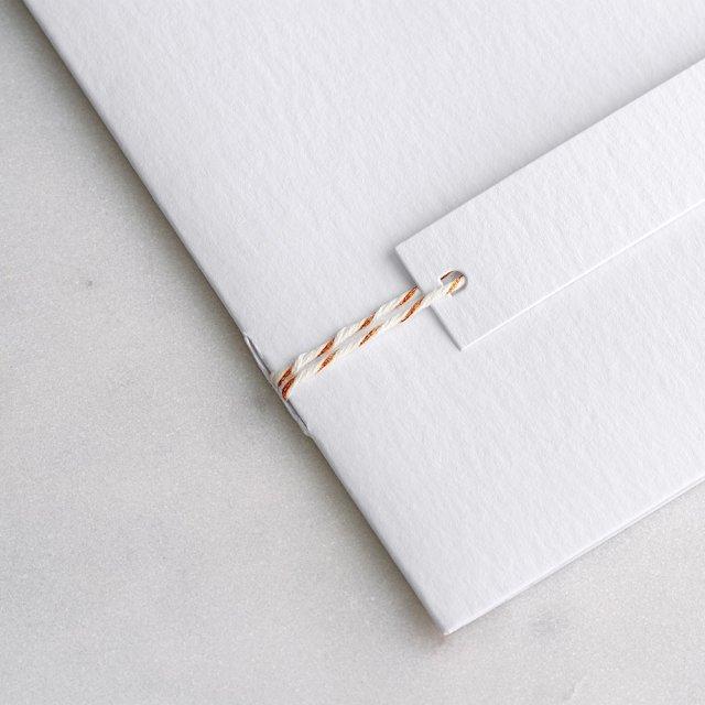 Baker Twine cuivre & blanc 90 cm
