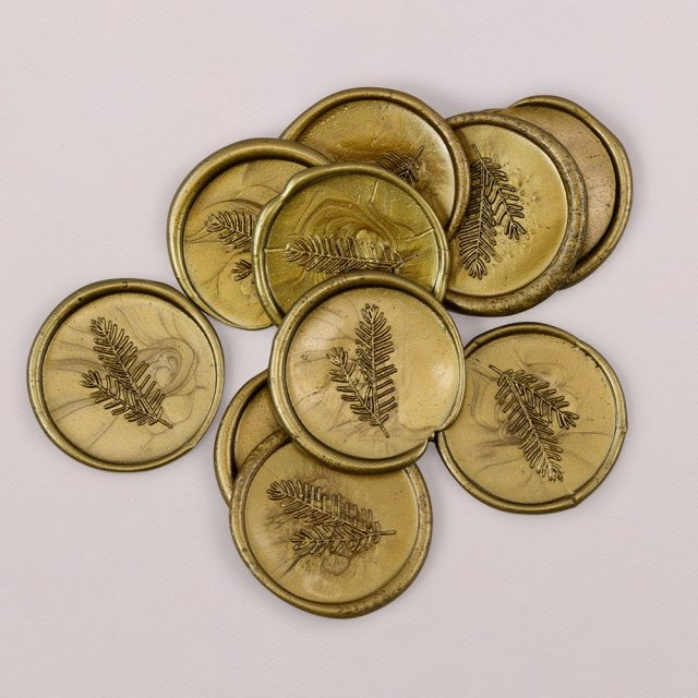 Cachet de cire doré 3cm