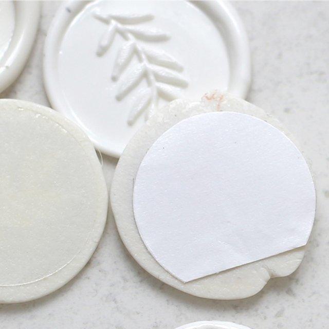 Cachet de cire blanc 3cm
