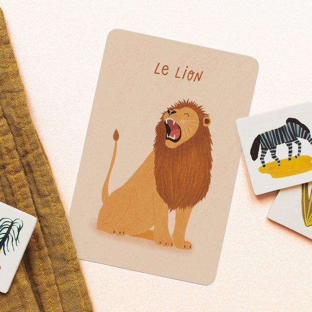 Cartes animaux de la savane