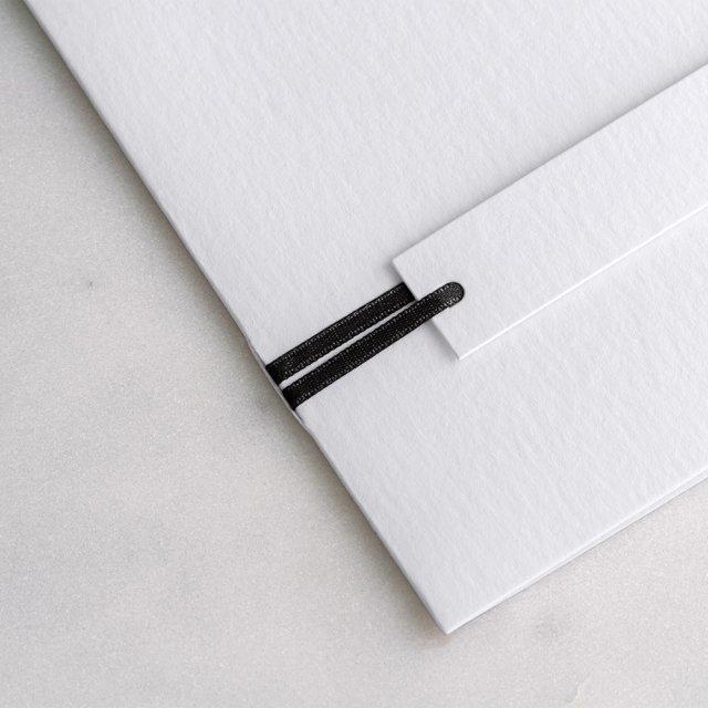 Ruban Satin noir 90 cm